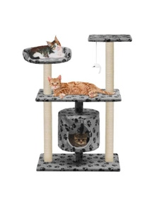 Cat Tree With Sisal Scratching Posts Paw Prints