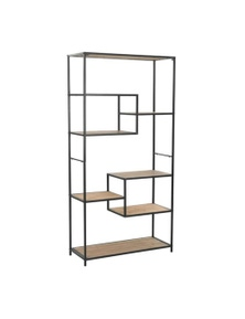 Bookcase Solid Firwood And Steel