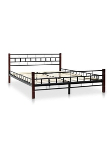 Bed Frame With Slatted Base Wooden Post Double Size