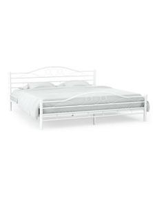 Bed Frame Slatted Base Curl Design Queen Size
