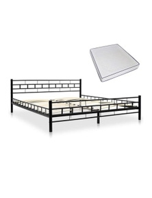 Metal Bed With Memory Foam Mattress