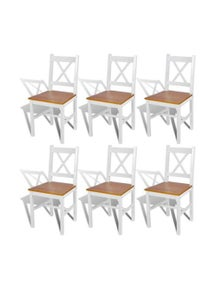Dining Chairs Wood And Natural Colour 6 Pieces
