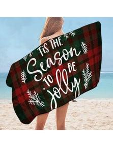 Christmas Spirit Microfiber Beach Towel