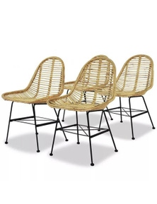 4 Piece Rattan Dining Chairs