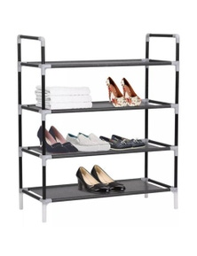 Metal and Non-woven Fabric Shoe Rack with 4 Shelves