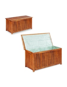 Garden Storage Box Solid Acacia Wood