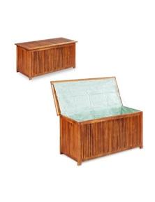 Garden Storage Box Solid Acacia Wood