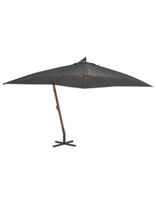 Cantilever Umbrella With Wooden Pole