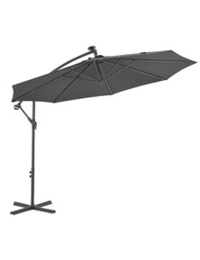 Cantilever Umbrella With Led Lights And Steel Pole