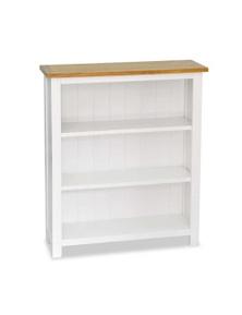 3 Tier Bookcase Solid Oak Wood
