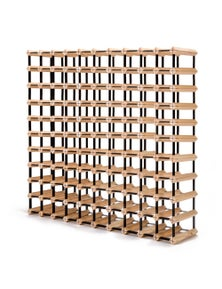 Home Ready 110 Bottle Timber Wine Rack