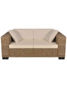 Seven Piece 2-Seater Sofa Set Real Rattan