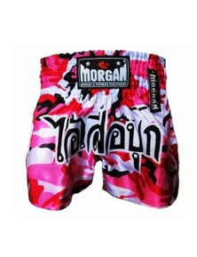 Morgan Sports Muay Thai Pink Diabla Camo Shorts