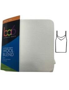 Ladies Wool Blend Camisole Singlet Top Slim Fit Thermal Underwear Sleeveless New