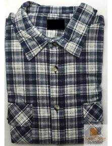 FLANNELETTE SHIRT MENS Check 100% COTTON Flannel Vintage Long Sleeve