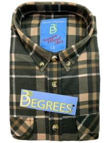 KIDS FLANNELETTE SHIRT Boys Children's Classic Vintage Flannel Flannie