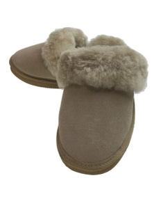 100% Sheepskin Moccasin Slippers Winter Genuine Scuffs Slip On Mens Womens New