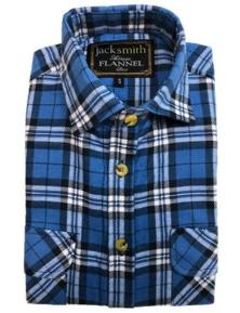 Men's Half Placket Flannelette Shirt 100% Cotton Check Authentic Flannel Long Sleeve Vintage