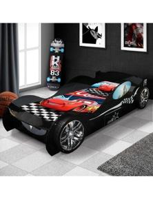 OliandOla Batman's Racing Kids Car Bed Drawer 3D Wheel