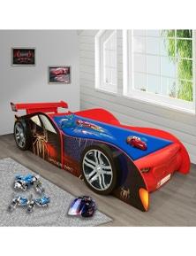OliandOla Spider Man Racing Kids Car Bed 3D Wheel