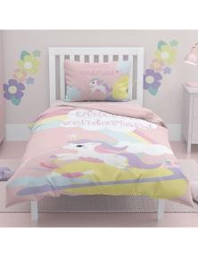 OliandOla  Single Kids Cotton Quit Cover Set Unicorn