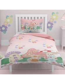 OliandOla  Single Kids Cotton Quit Cover Set Mushroom House