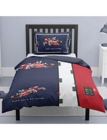 OliandOla  Single Kids Cotton Quit Cover Set Lets Ride to Sleep