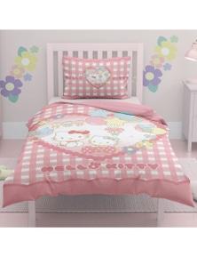 OliandOla  Single Kids Cotton Quit Cover Set Hello Kitty
