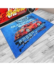 OliandOla Outdoor 65Lab Kids Racing Car Rug Super Soft