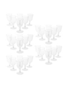 Lemon Lime 30PK Plastic Party Wine Glasses