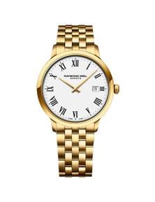 Raymond Weil Toccata Men'S Classic Pvd Gold White Dial Quartz 39 Mm Watch