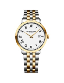Raymond Weil Toccata Men'S Classic Two-Tone White Dial Stainless Steel Quartz 39Mm Watch