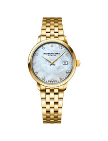 Raymond Weil Toccata Ladies Classic Gold Diamond Steel 29Mm Watch