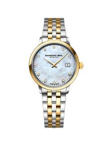 Raymond Weil Toccata Ladies Two-Tone Gold 11 Diamond Quartz Stainless Steel 29Mm Watch