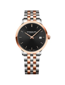 Raymond Weil Toccata Men'S Rose Gold Black Dial Stainless Steel Quartz 39Mm Watch
