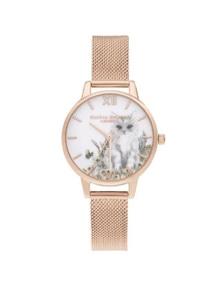 Olivia Burton Illustrated Animals Rose Gold Watch