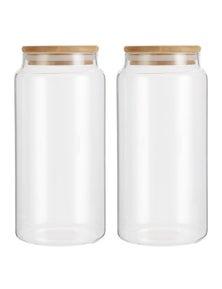 LemonLime 1.25L Camden Glass Jar 2PK