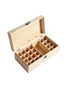 25 Slots Essential Oil Wooden Box Aromatherapy Organiser