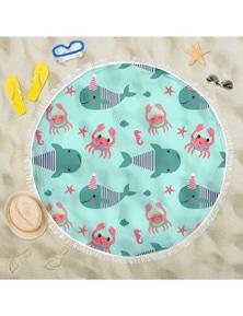 Cotonlab Round Beach Towel