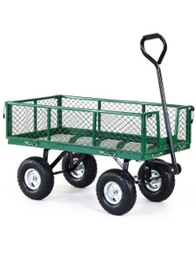 Kartrite Garden Cart with Mesh Liner Lawn Folding Trolley