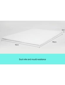 Laura Hill High Density Mattress Foam Topper 5Cm Single