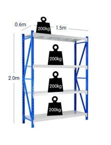 Klika 1 Bay Garage Storage Steel Rack Shelving 1.5m 800kg