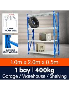 Klika 1 Bay Garage Storage Steel Rack Long Span Shelving 1.0m-wide 400kg