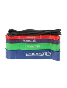 Powertrain 5X Gym Exercise Power Resistance Bands