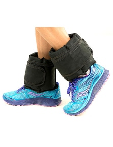 PowerTrain 2 x 2.5kg Adjustable Ankle Exercise Running Weights