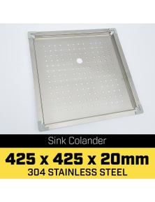 Klika Stainless Steel Sink Colander 425 x 425mm