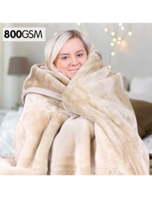Royal Manchester 800Gsm Heavy Double-Sided Faux Mink Blanket