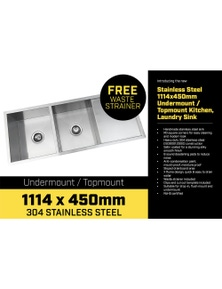 Klika 304 Stainless Steel Sink - 1114 x 450mm