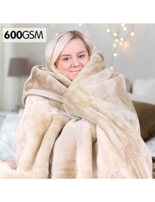 Royal Manchester 600Gsm Large Double-Sided Faux Mink Blanket