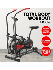 PowerTrain Air Resistance Exercise Bike Spin Fan Equipment Cardio